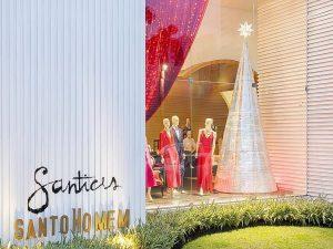 árvore e vitrine de Natal  —  Dona Santa  |  Santo Homem