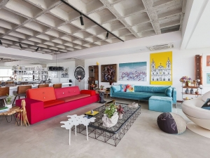 a área social  |  sala de estar, áudio e vídeo