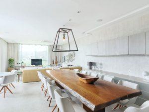 a área social | salas de estar, áudio e vídeo e jantar
