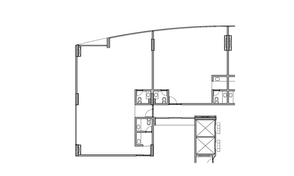 a planta baixa do andar superior  |  antes das obras