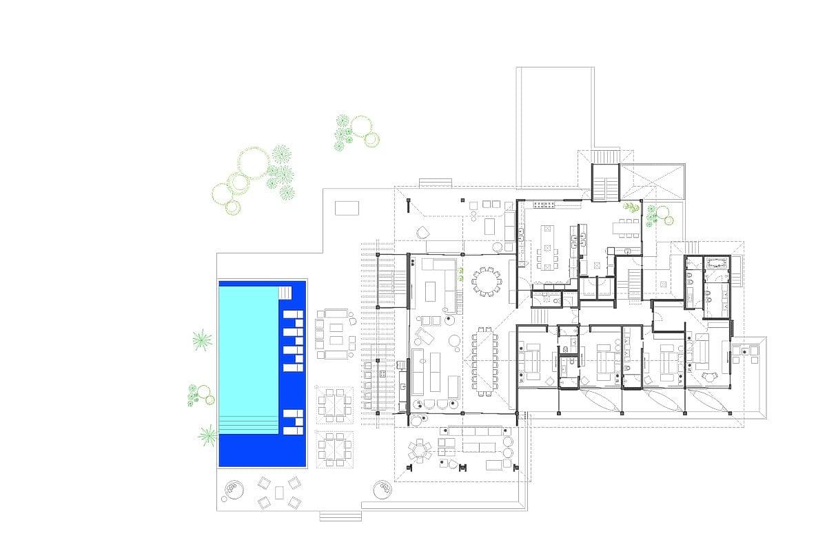 a planta baixa  |  a área é de 1800.00 m2