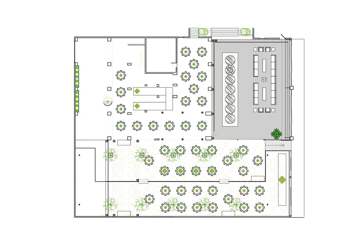 a planta baixa  —  a área é de 800.00 m2