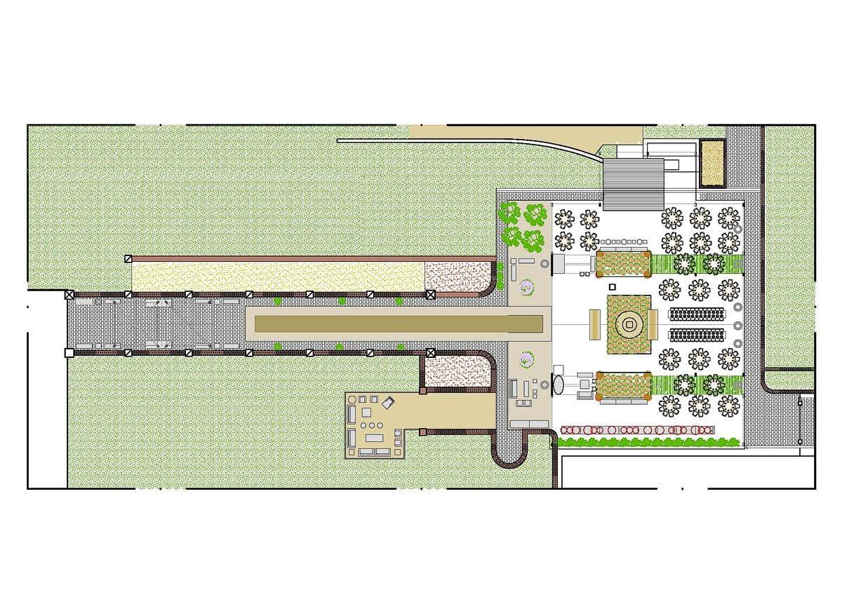 a planta baixa  —  a área é de 620.00 m2