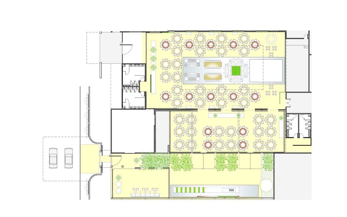 a planta baixa  —  a área é de 1420.00 m2