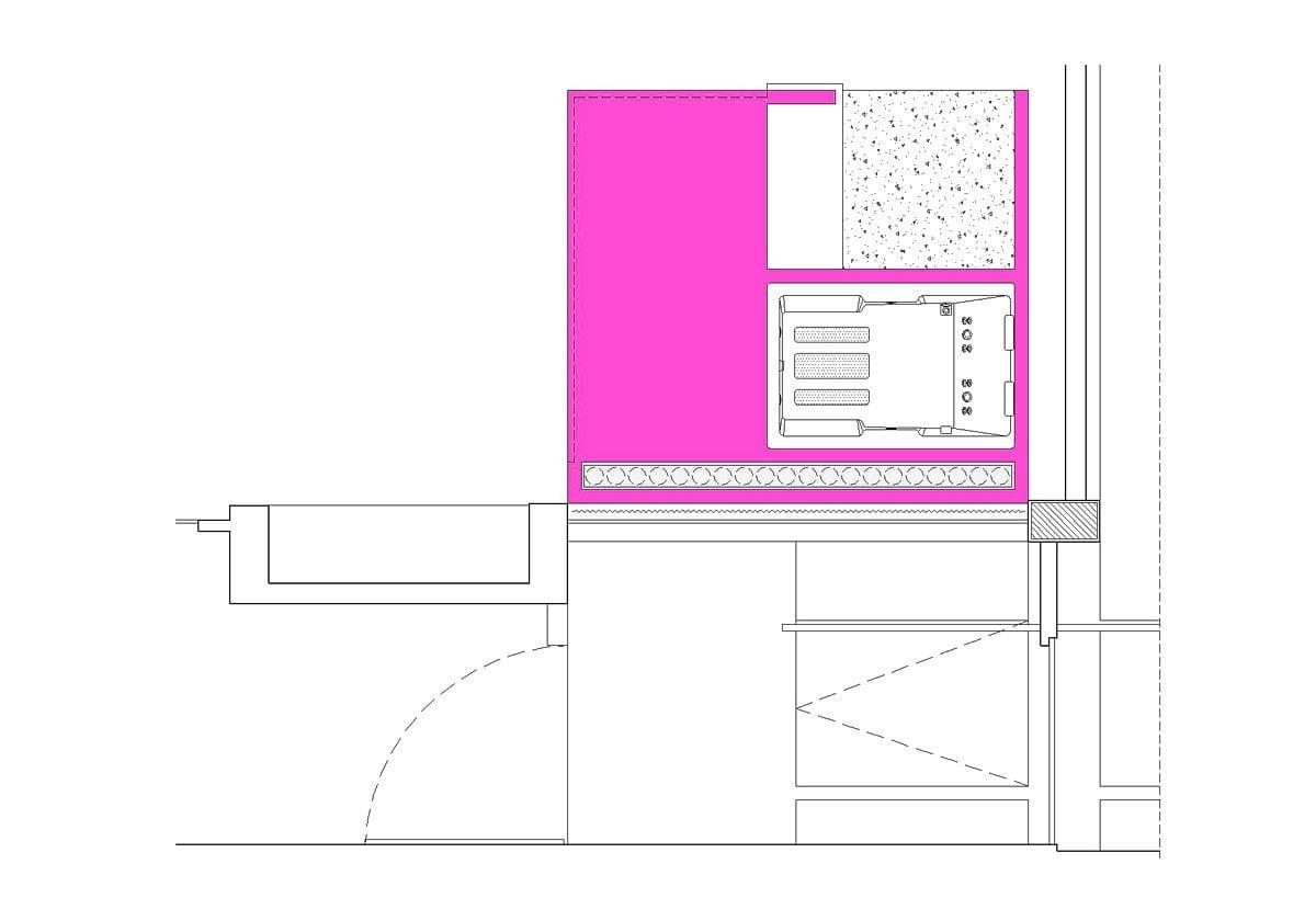 a planta baixa  —  a área é de 12.00 m2