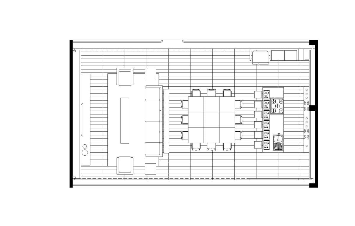 a planta baixa  —  a área é de 108.00 m2
