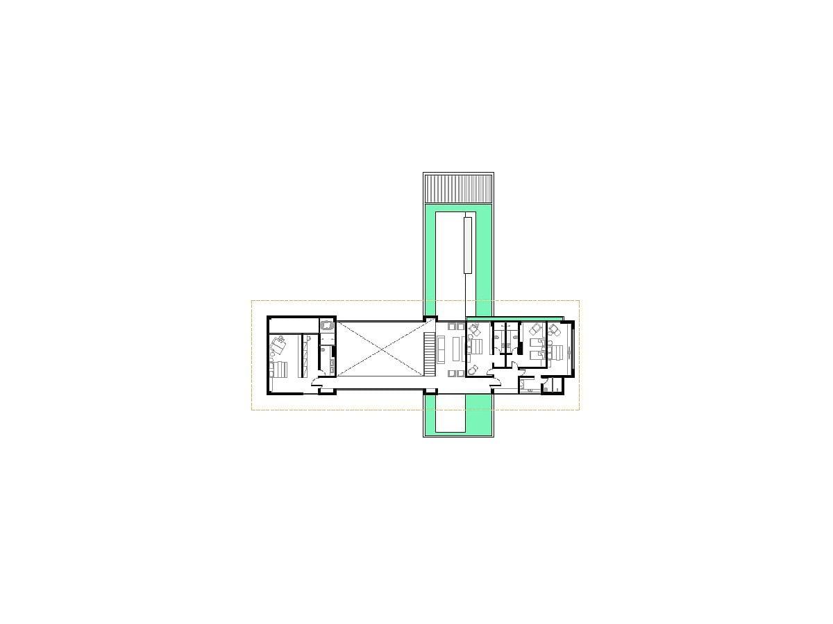 a planta baixa  —  andar superior
