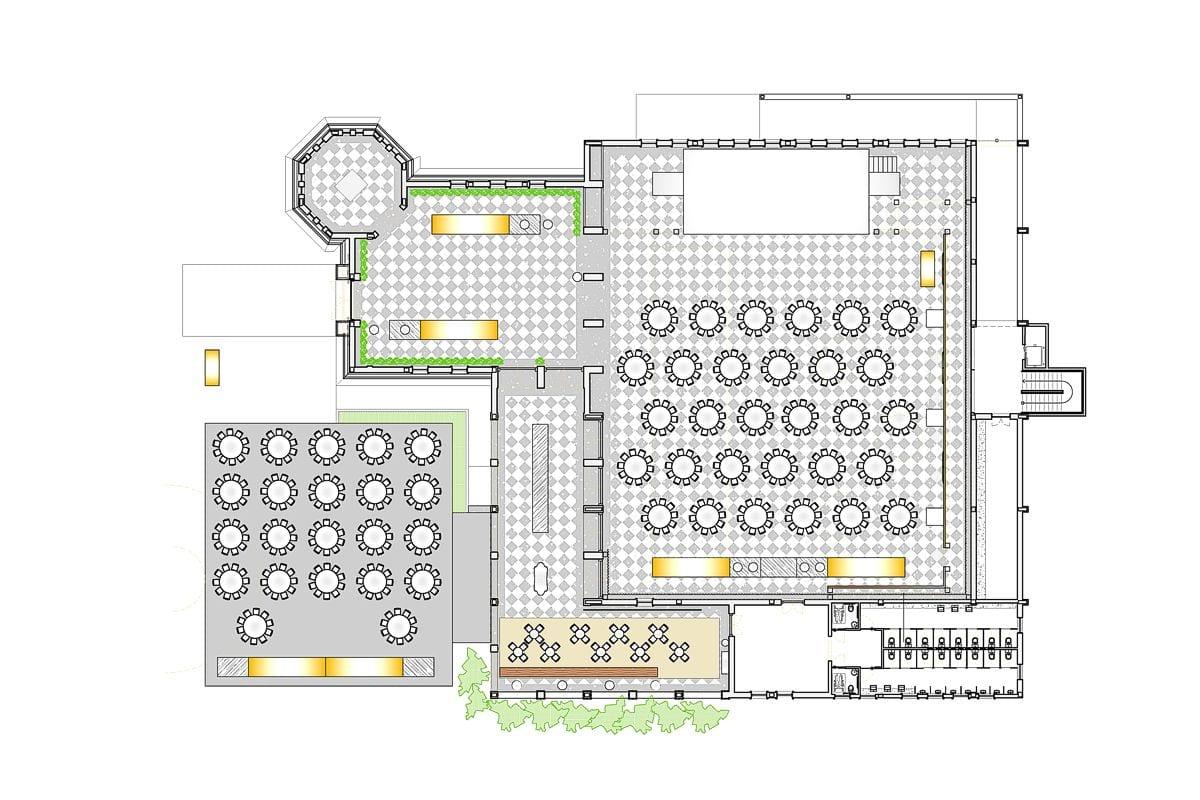 a planta baixa da Galeria  —  a área é de 1650.00 m2
