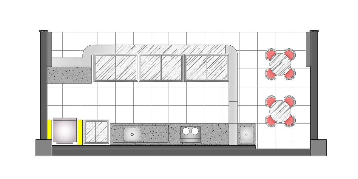 a planta baixa  —  a área é de 24.00 m2