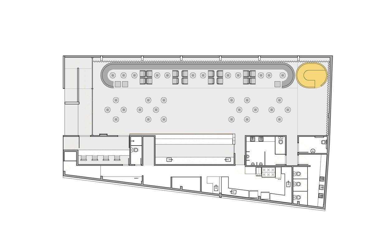 a planta baixa  —  a área é de 290.00 m2