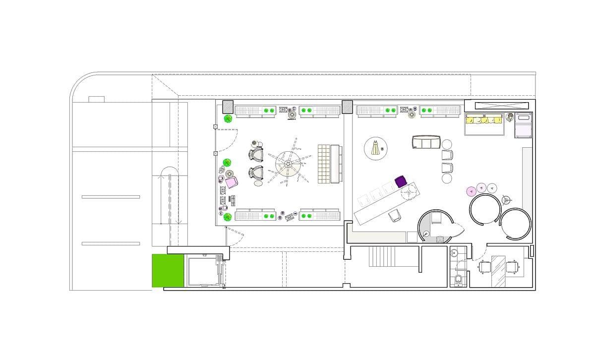 a planta baixa  —  a área é de 125.00 m2