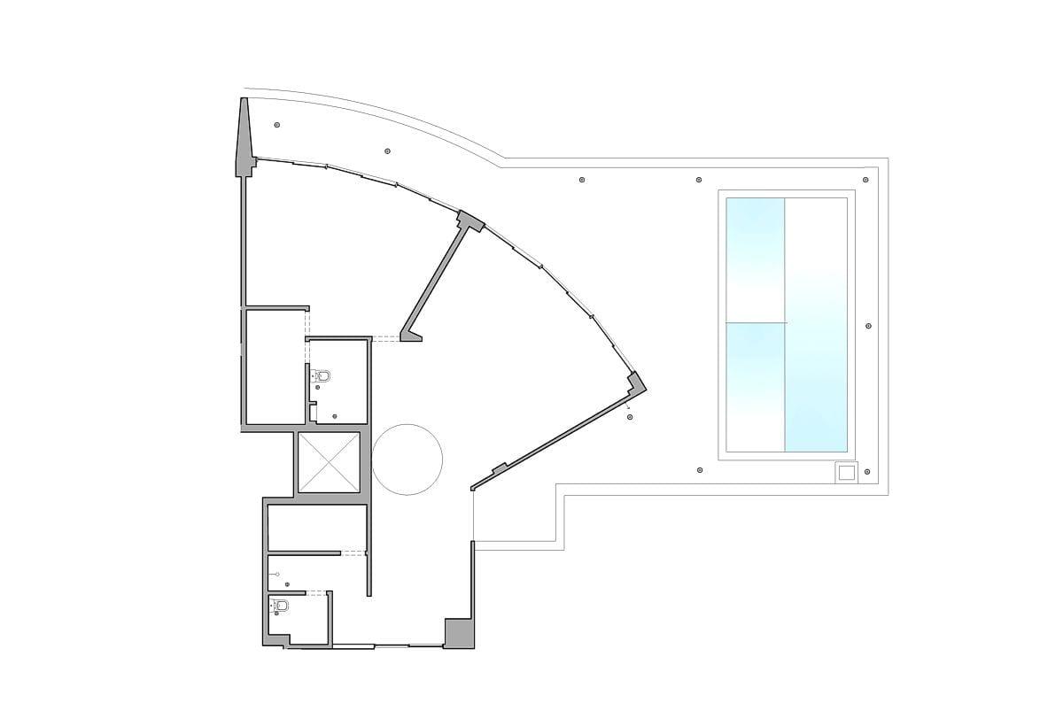 a planta baixa do andar superior  —  antes das obras