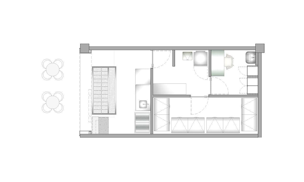 a planta baixa  —  Fri-Sabor Caruaru  —  a área é de 32.00 m2