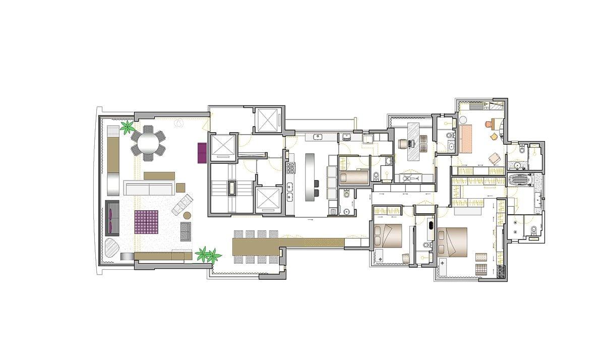 a planta baixa  —  a área é de 250.00 m2