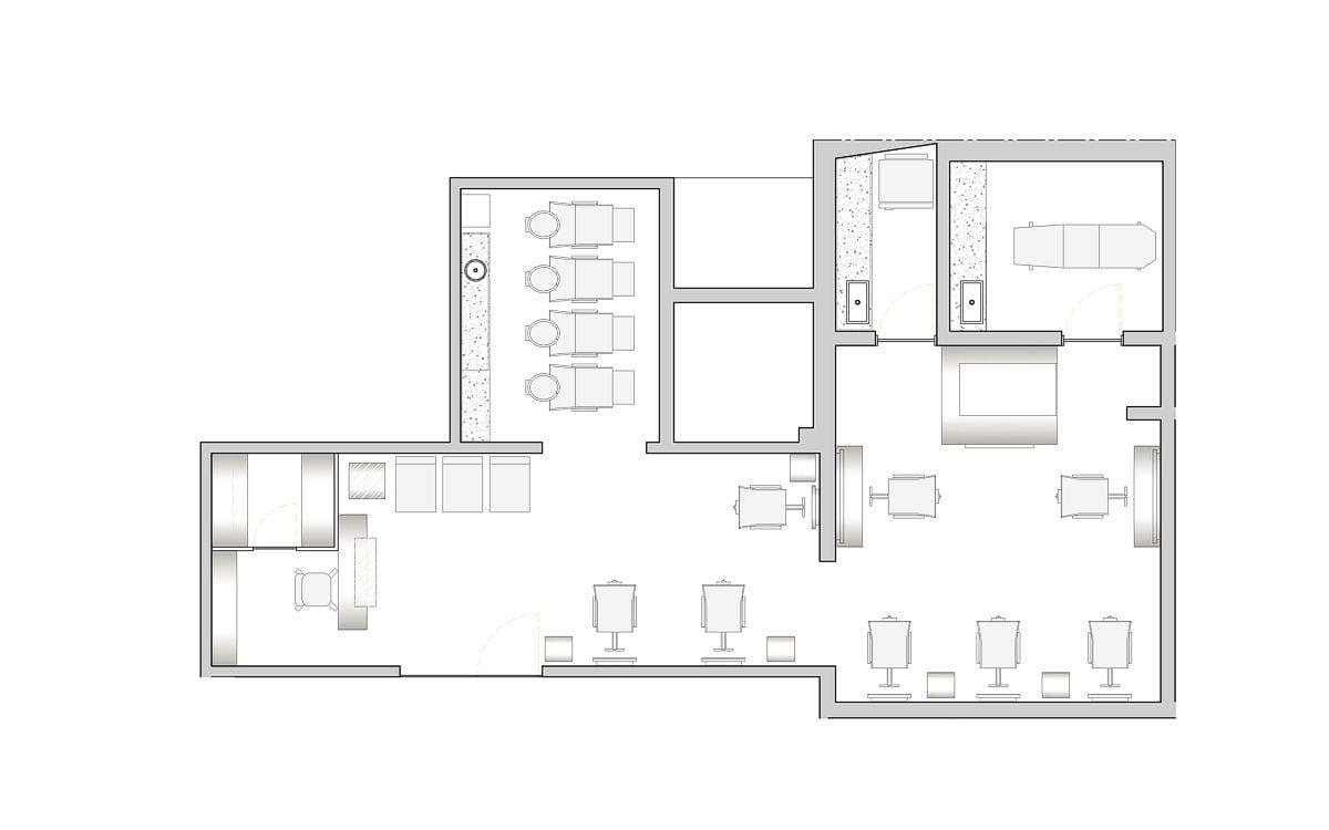 a planta baixa  —  a área é de 70.00 m2