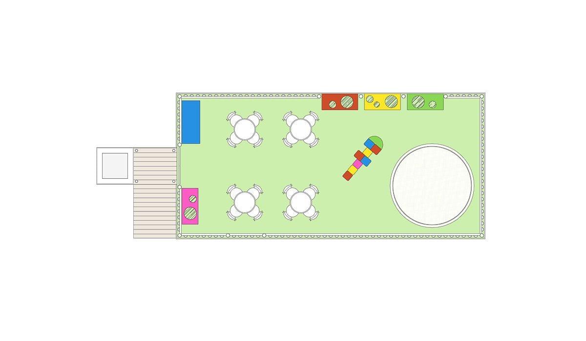 a planta baixa  —  a área é de 40.00 m2