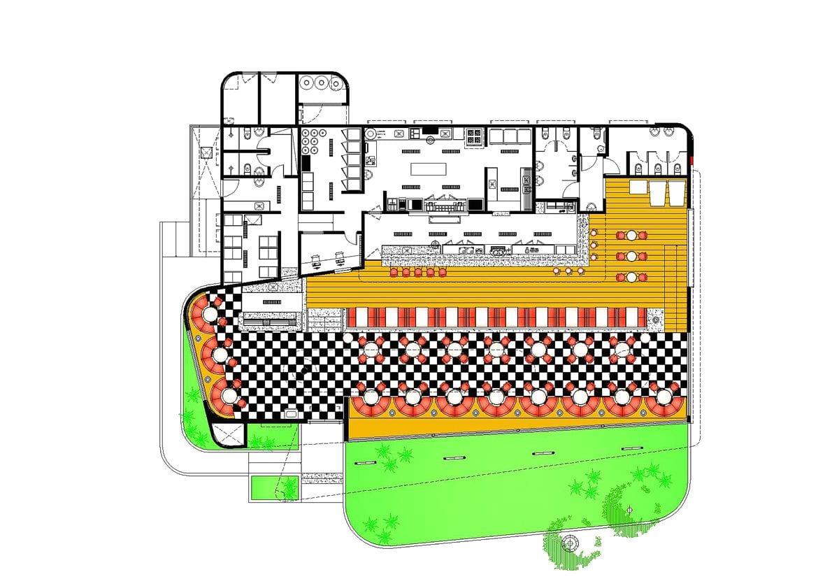 a planta baixa  —  a área é de 502.00 m2