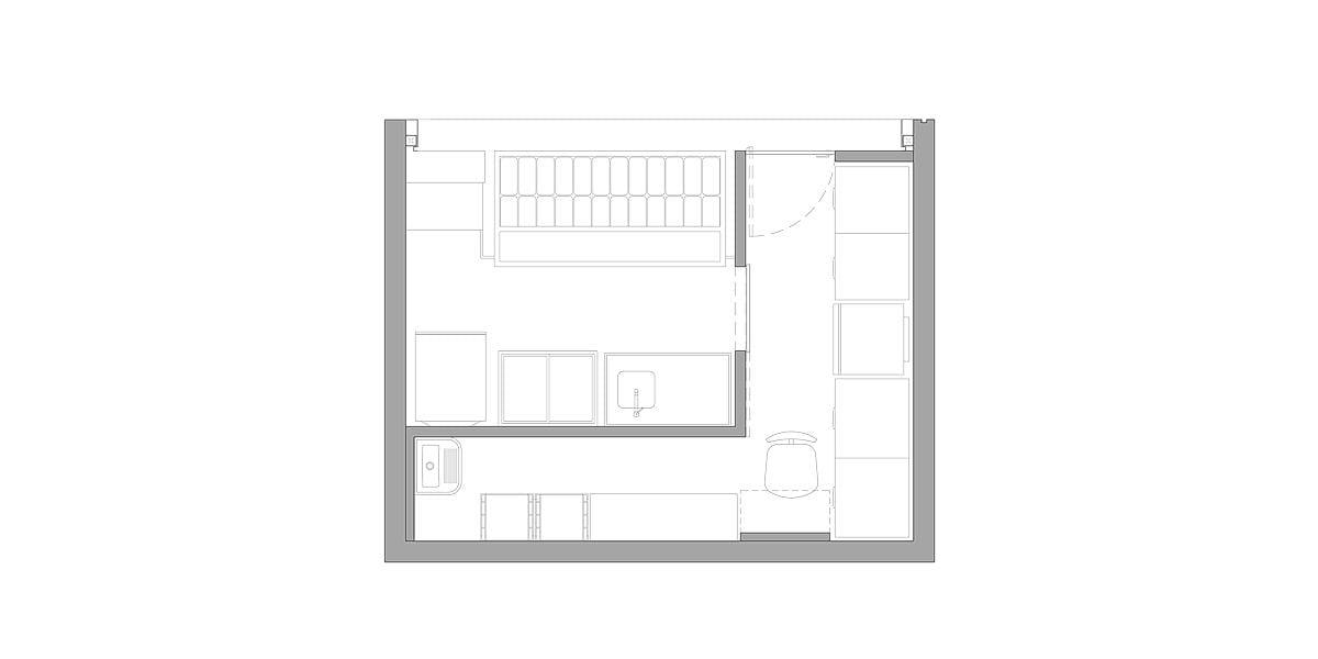 a planta baixa  —  Fri-Sabor Carrefour  .  Torre  —  a área é de 22.00 m2