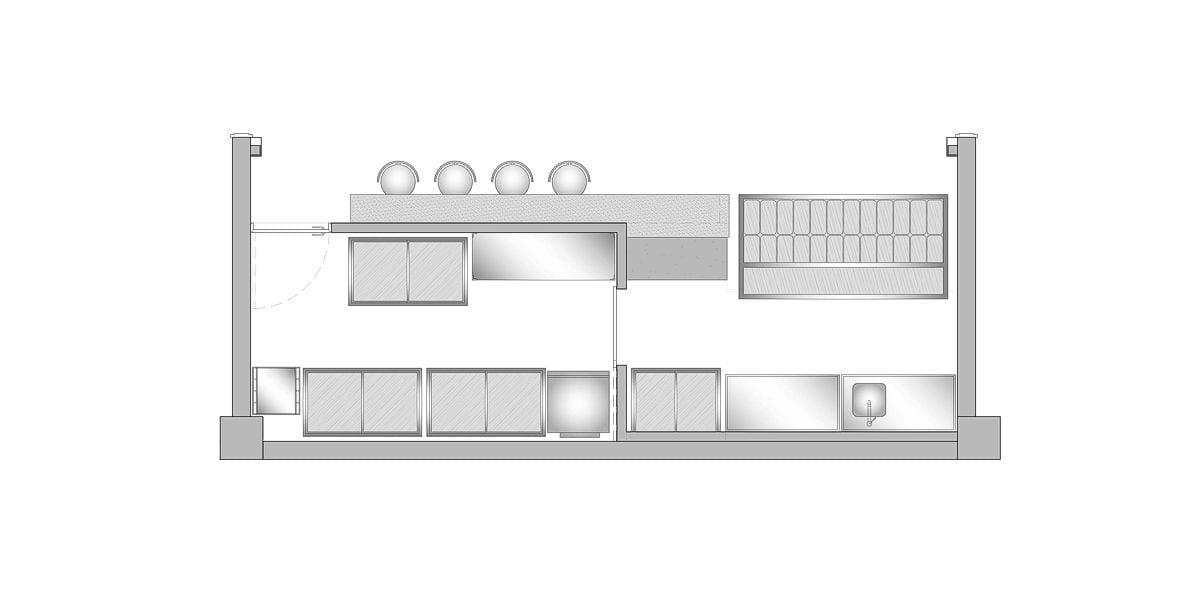 a planta baixa  —  Fri-Sabor Carrefour  .  Boa Viagem  —  a área é de 24.00 m2
