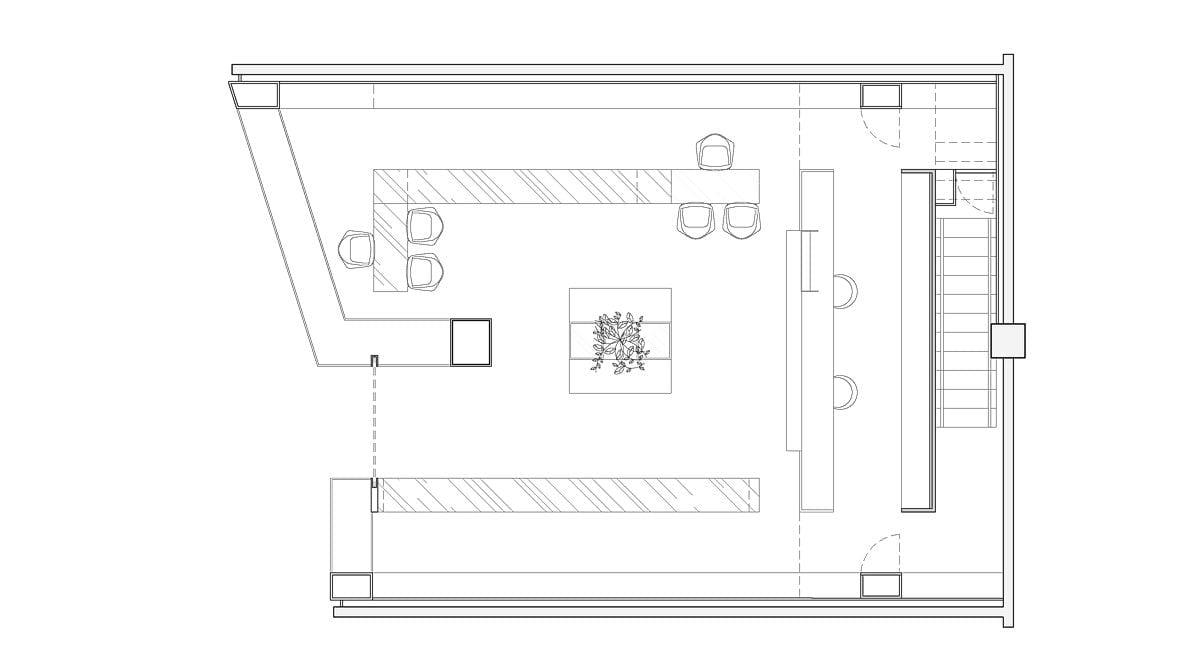a planta baixa  —  a área é de 90.00 m2