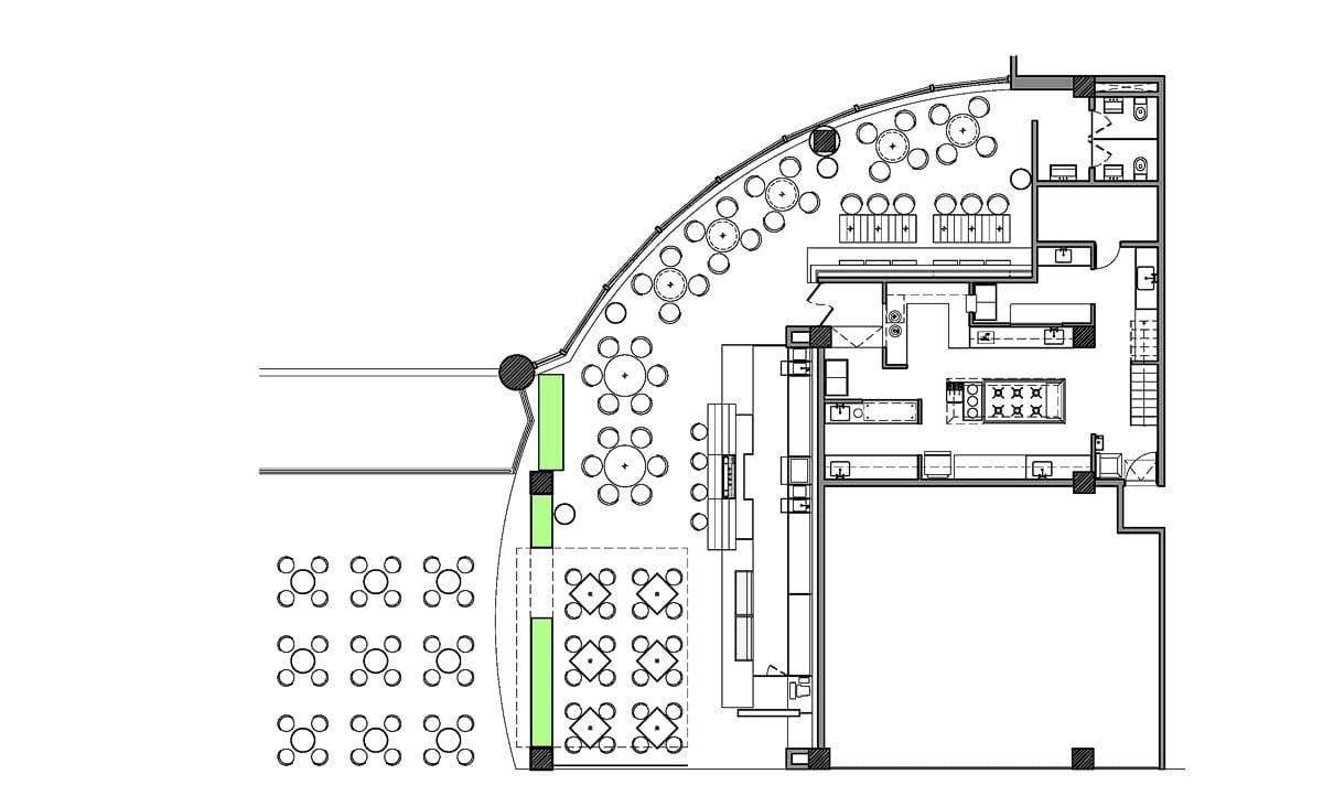 a planta baixa  —  a área é de 240.00 m2