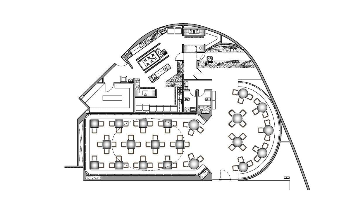 a planta baixa  —  a área é de 309.20 m2