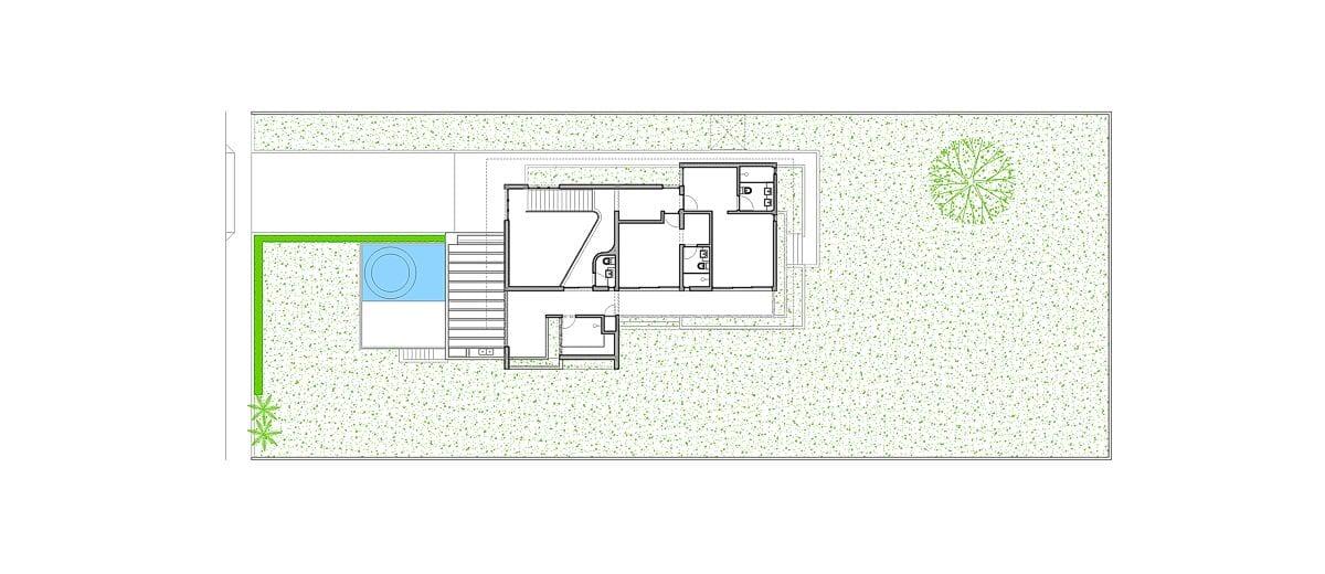 a planta baixa  —  primeiro andar  — antes das obras
