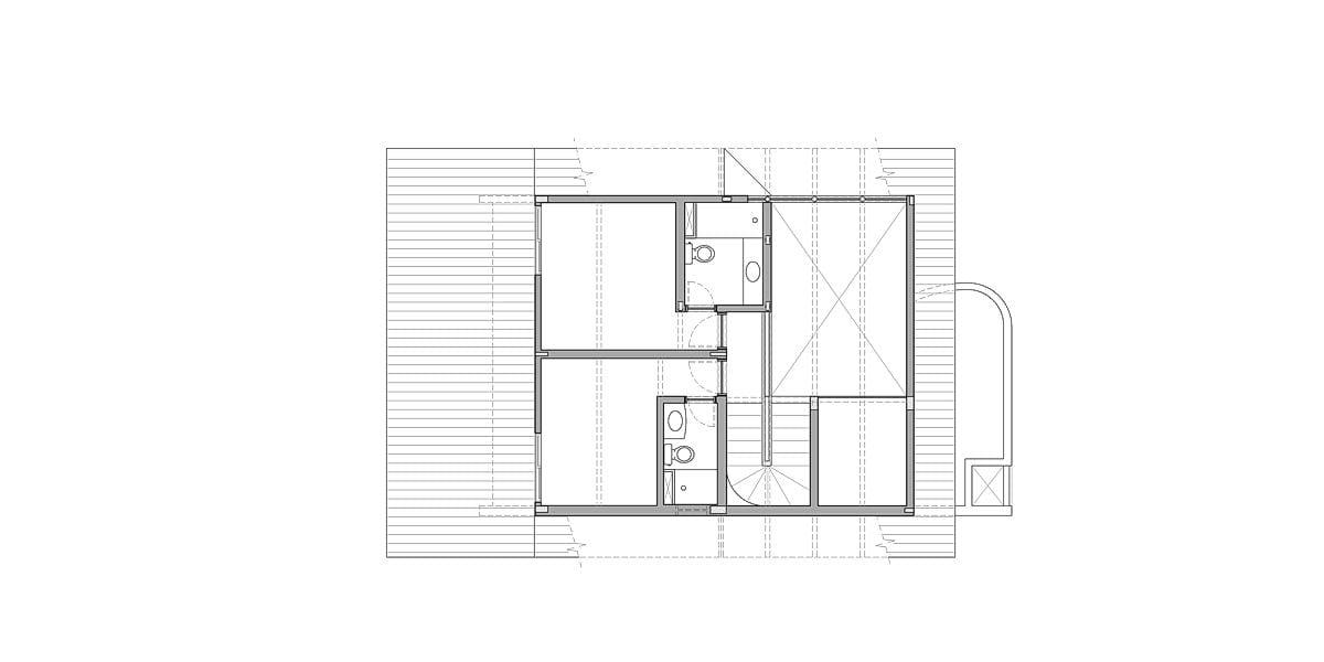 a planta baixa do primeiro andar  —  antes das obras