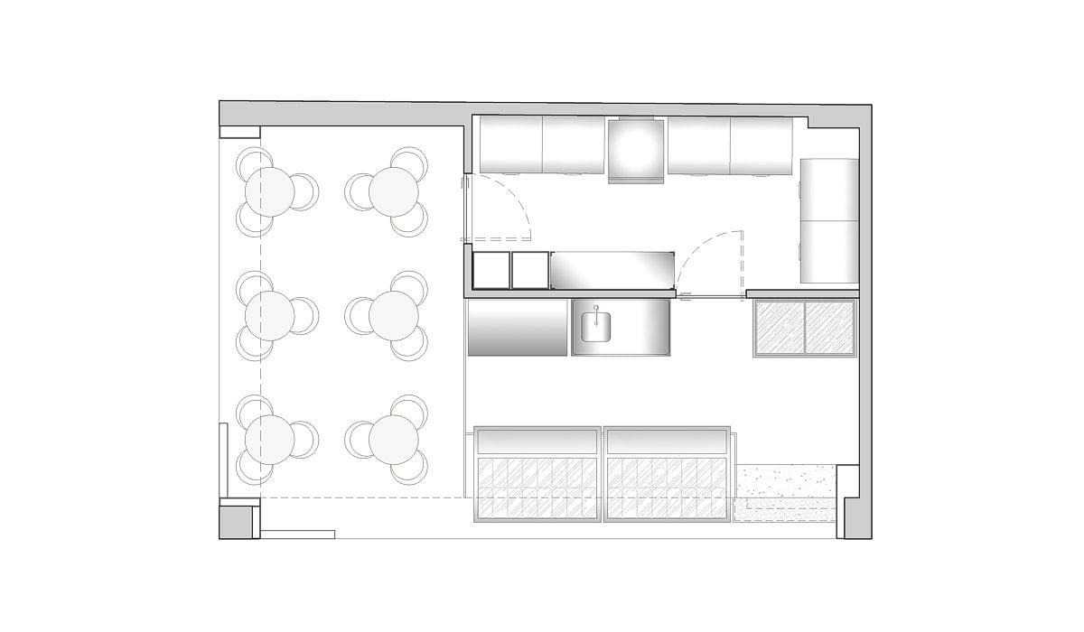a planta baixa  —  Fri-Sabor Extra Benfica  —  a área é de 40.00 m2
