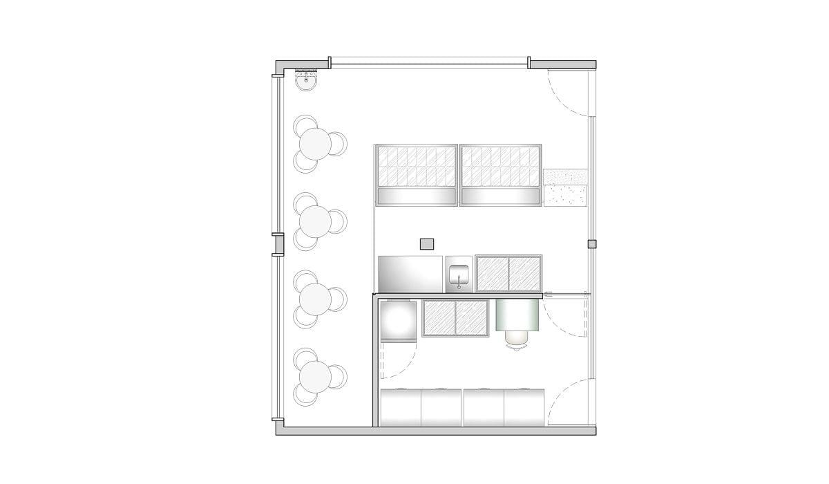 a planta baixa  —  Fri-Sabor Olinda  —  a área é de 40.00 m2