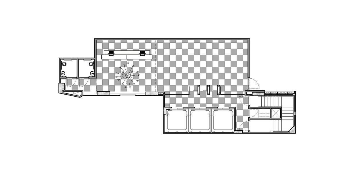 a planta baixa  —  a área é de 102.00 m2