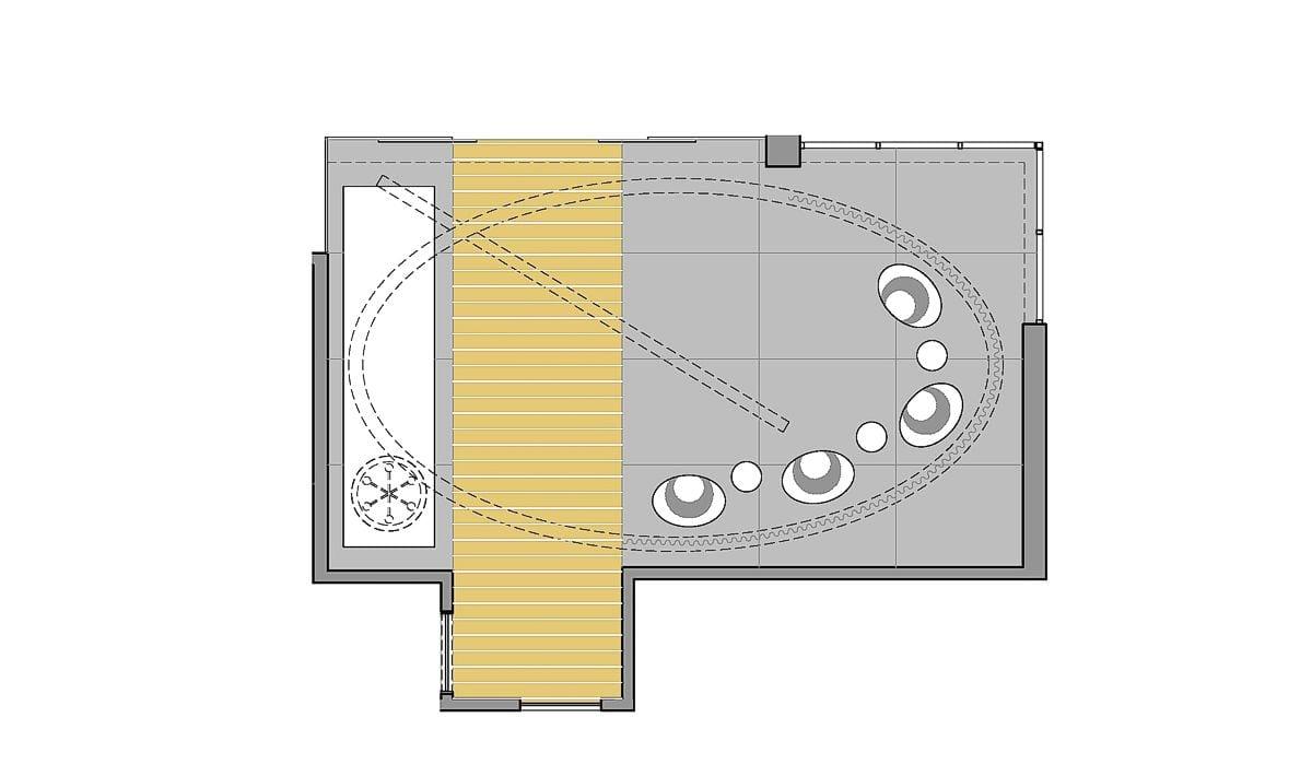 a planta baixa  —  a área é de 52.00 m2