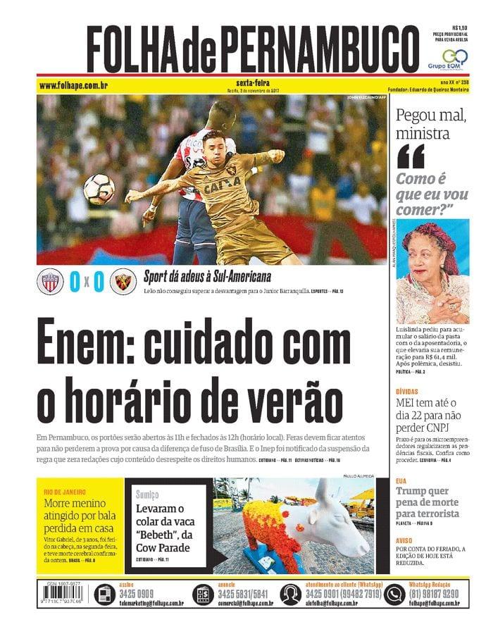 03 de novembro | Folha de Pernambuco